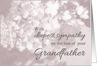 Sympathy/Loss of Grandfather/Christian-Loss Of Grandfather card