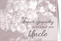 Sympathy/Loss of Uncle/Christian-Sympathy Loss Of Uncle card
