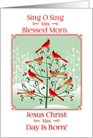 Christmas/Religious/Scripture/Christianity-Cardinals Sing To The King card