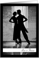 Silhouette Couple Dancing for this Love is Forever Card