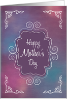 Vintage Frame with Happy Mother's Day and Swirl Corners card