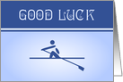Rowing good luck blue card