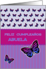 Happy Birthday spanish grandmother butterflies card