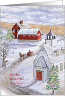 Sleigh Bells Ring in a Winter Wonderland Christmas with Neighbors card