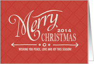 Merry Christmas 2014 card