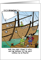 Columbus Day - The Nina, Pinto, and Santa Maria card