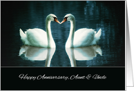 Happy Wedding Anniversary, Aunt and Uncle, Swans card