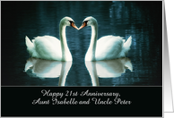 Customize for any Relation, Happy Wedding Anniversary, Swans card