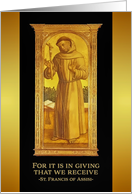 St. Francis of Assisi, Catholic Saint, Medieval Painting card
