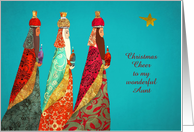 Customize for any Relation, Christmas, Wise Men, Gold Effect card