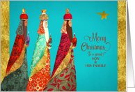 Merry Christmas to a special Son and his Family, Three Wise Men card