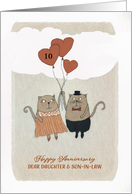 Customize, Happy Wedding Anniversary, Daughter & Son in Law, Cats card