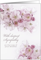 With deepest Sympathy, Loss of Brother, White Blossoms card