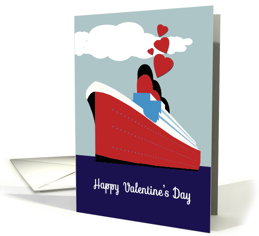 Happy Valentine's Day, Hearts, Cruise Ship card (1466148)