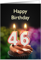 46th birthday with candles card