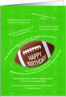 Football jokes birthday card