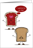 Anniversary, general, Adult humor, peanut buter, jelly bread slices card