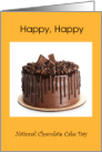 National Chocolate Cake Day General with a Yummy Cake card