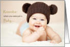 Congratulations on retirement, humor, baby in cute hat card