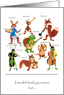 Thank you to music teacher, animals with instruments card