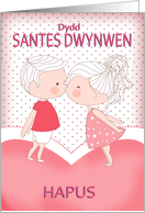 Dydd Santes Swynwen Hapus, Happy St. Dwynwen's Day Welsh card