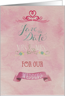 Save the Date Wedding Mrs & Mrs Card