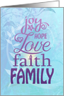 Family Blessings Together Encouragement card