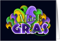 Bring Your Mardi Gras Beads Because It's a Party! card