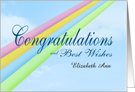 Personalized Congratulation Rainbow Wishes card