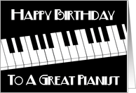 Happy Birthday To A Great Pianist card