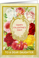 Custom For Daughter Floral Valentine's Day with Roses card