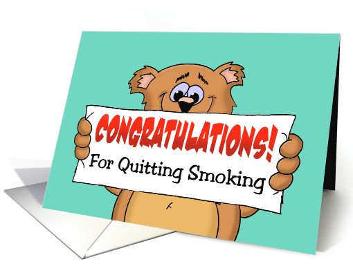 Cute Congratulations on Quitting Smoking with a Cartoon ...