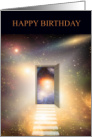 Another Birthday. Another step closer. Galaxy space artwork. card