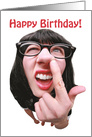 Happy Birthday Nose Picker card