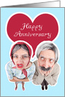 Happy Anniversary Old Couple card
