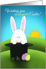 Happy Easter Anyone Bunny In Magician Hat card