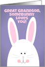 Happy Easter Great Grandson Somebunny Loves You card