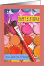 Happy Birthday Husband Watercolor Paints card