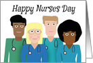 Happy Nurses Day Various Nurses card
