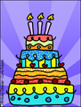 layer cake, birthday cake, happy birthday, cake, animated