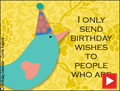 happy birthday, animated, funny, little bird, bird, cake, cupcake