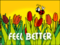 feel better, get well soon, ill, tulips, hospital, surgery,