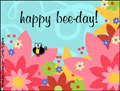 birthday, bee day, bee, flowers, happy bee-day, floral, friend,happy birthday,