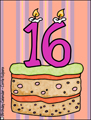 birthday, cake, 16, 16 years old, 16th, turing 16, happy birthday, milestone,