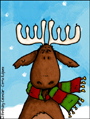 moose,candles,flash,animated,snow, holiday, holidays, seasons greetings, christmas, xmas, happy holidays, winter, solstice,