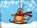 snowboarding,boarding,kitty,snow,wintersports,winter,downhill,animated,ski,happy holidays,xmas,christmas,