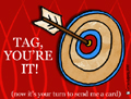 tag, tag youre it, target, exchange cards, card war, greetings