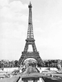eiffel tower, paris, france, city of lights, city of love, vintage photo