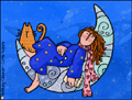 moon,stars,kitty,dreaming,miss you,thinking of you,girl,girlfriend,boyfriend,close,relationship,