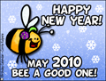 2010, happy new year, bee